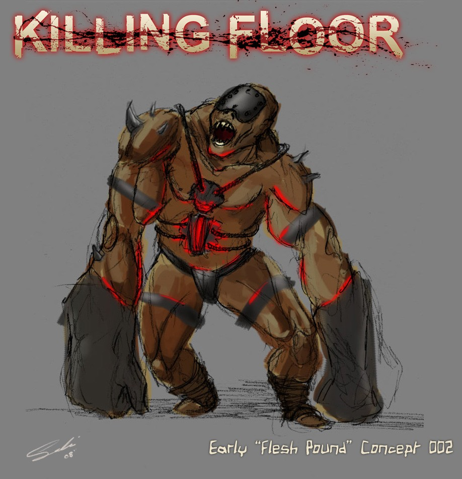 Alex Quick, The Killing Floor Modu0027s Lead Dev And Creator Did This Quick  Sketch To Explore More Of A Low Tech Creation Featuring Leather Belts And  Crude ...
